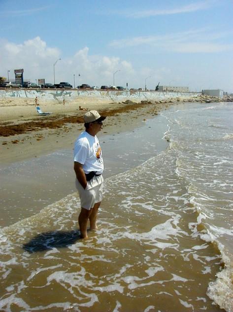 Galveston Beach, Tx;   Photo by Barbara Mattio Former Korean vet