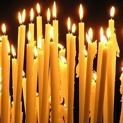 May the energy and the light of these candles surrounds the grieving parents.