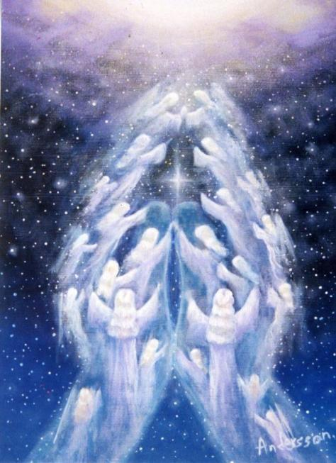 Healing hands bring Divine energy to those in pain.