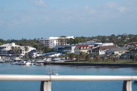Bahama shore from ship