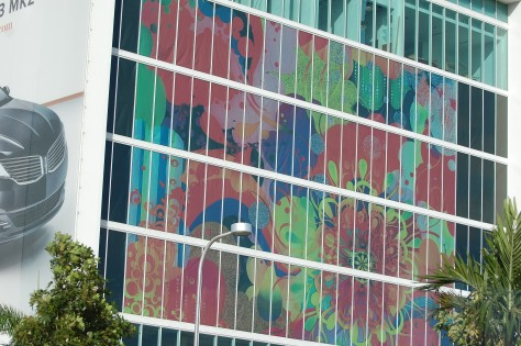 The wall of a building in South BeachPhoto by Barbara Mattio