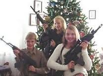 A gun collector gives his family Christmas