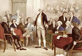 Original sketch of the drawing up of our Constitution