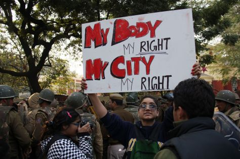 Protesting who owns a woman's body