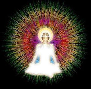 Radiating energy and light as you meditate or chant