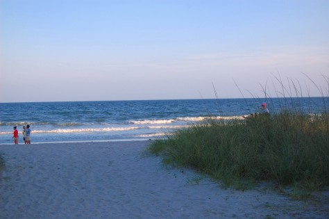 The beach at twilight. Photgraph copyrighted by Barbara Mattio