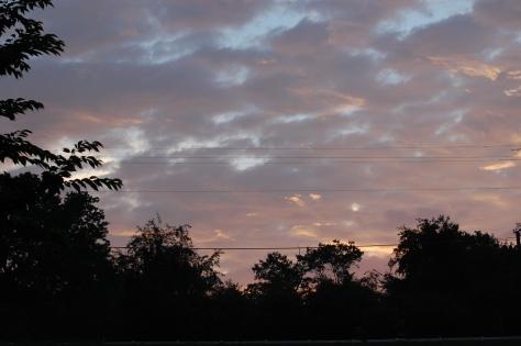Blue Ridge Mountain twilight. Photograph copyrighted by Barbara Mattio