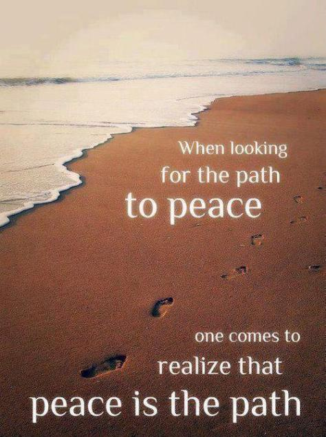 The journey is peace and we must meet every act of violence with peace and loving forgiveness