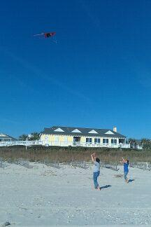 Kite flying on the beach  Photograph taken and copyrighted by Barbara Mattio 2013