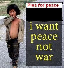War destroys the childhoods of children.
