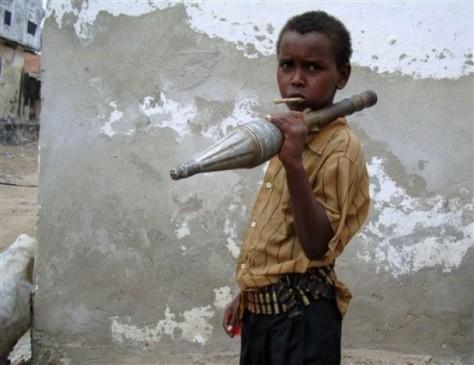 Somalian boy soldier