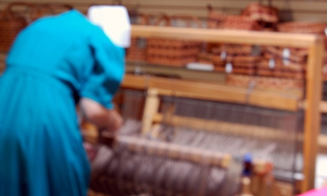 The Amish spin wool and use a loom to make clothes and rugs