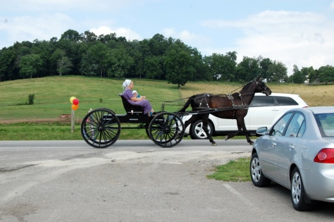 Buggy ride in Amish dress