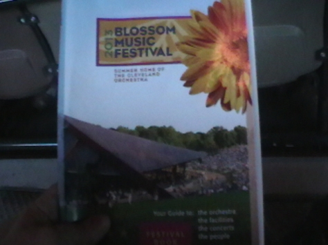 Program from Blossom Music Center
