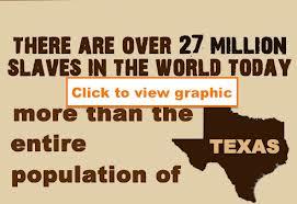 Twenty seven million slaves in the world in 2013.