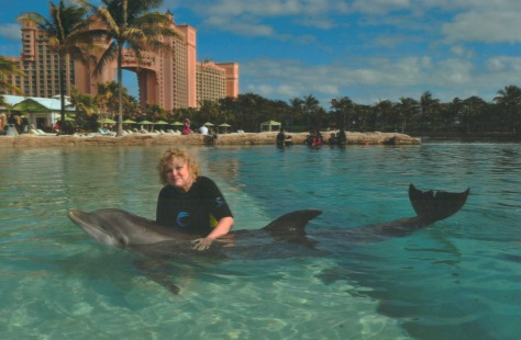 I played with Jill, my dolphin friend