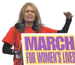 Gloria Steinem  in the day