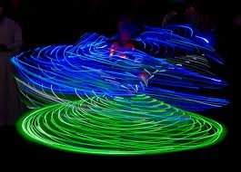 Whirling dervishes of light