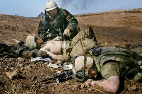 Wounded or dead solders