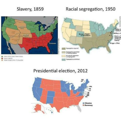 maps slaverry and racism