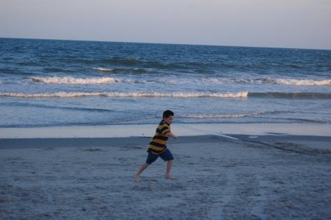 A run across the sand.