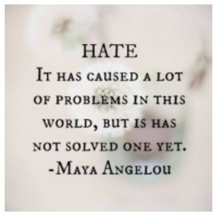 Hate isn't the answer