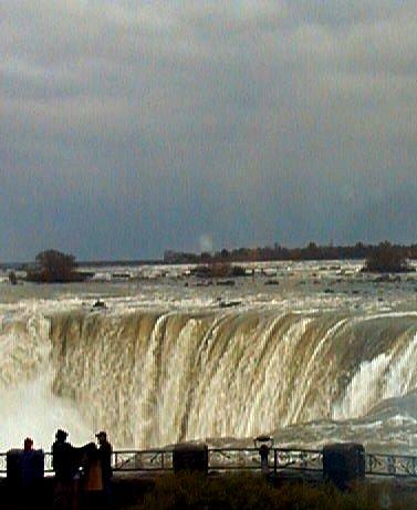 Niagara Falls Horseshoe Falls. Photograph taken and copyrighted 2002 by Barbara Mattio.