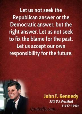 JFK's thoughts on how the government should operate.
