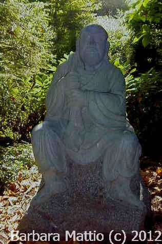 This statue is in the gardens of the Cleveland Botanical Gardens. Photograph and copyright by Barbara Mattio 2012