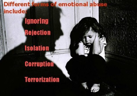 Types of abuse seen in the home.