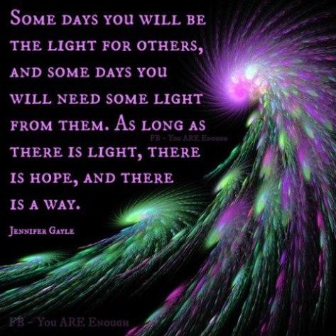 Being a light