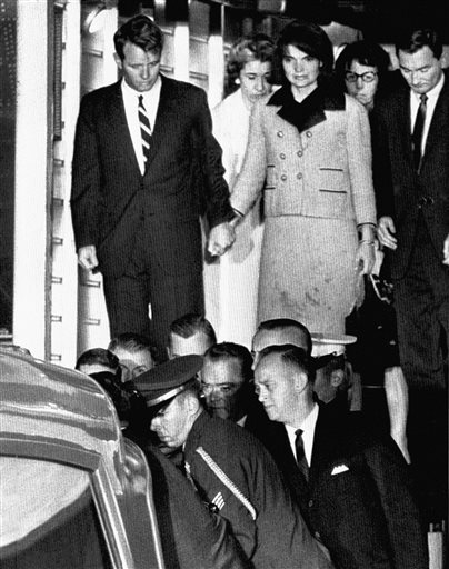 Robert Kennedy with Jackie