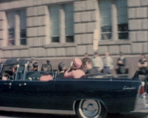 The Kennedy Motorcade before the assasination.