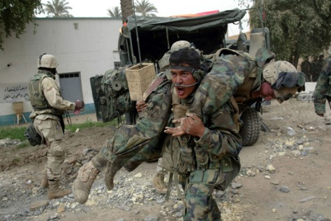 Marines in Iraq. No one is left behind