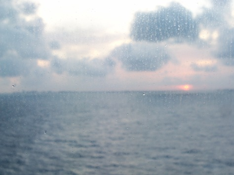 Caribbean sea at dusk after a beautiful day. Photographed and copyrighted by Barbara Mattio