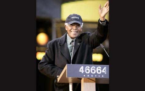 Nelson Mandela at concert