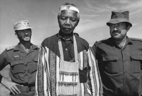 Nelson Mandela campaigning for President