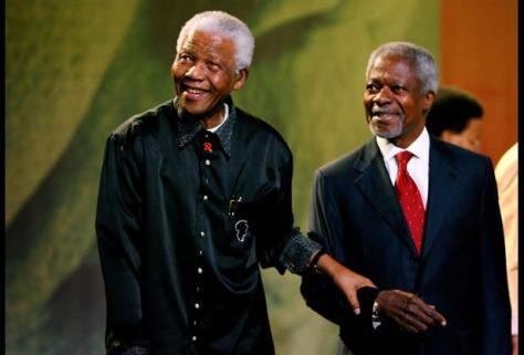 Nelson Mandela and Kofi Annan Secretary of  United Nations