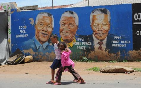 Nelson Mandela in art