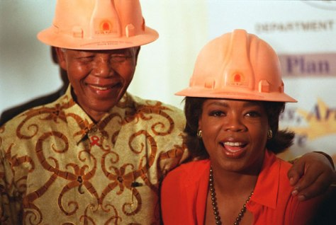 Nelson Mandela and Oprah