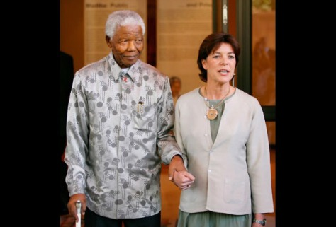 Nelson Mandela and Princess Caroline