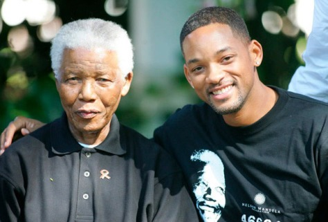 Nelson Mandela and Will Smith