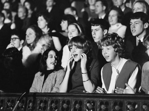 American teens in audience