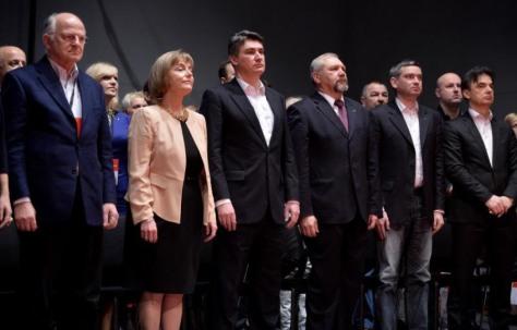 Croatian government officials at Social Democrats conference Saturday 22 February 2014 Photo: Marko Prpic/Pixsell