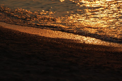 Sunset on Lake Erie. Photograph taken and copyrighted by Barbara Mattio 2009
