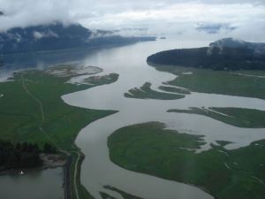 Mendenhall River Estuary Photo at edge.alaska.edu
