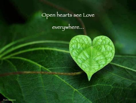 Open hearts and open minds are what the people need