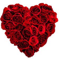 A heart full of roses