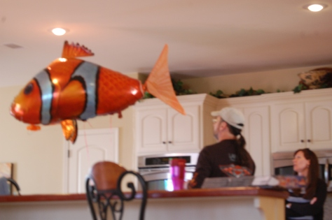 This is a remote control helium filled Nemo.