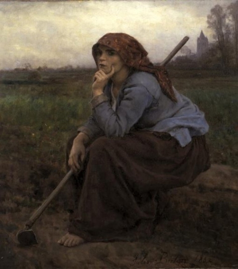 Jules-Breton-XX-Young-Peasant-Girl-with-a-Hoe-1882